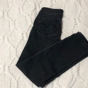 Levi's Slim Straight Black Jeans